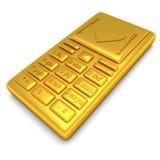 Teléfono del oro Foto de archivo libre de regalías