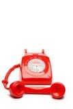 Teléfono del rojo de la manera Imagen de archivo libre de regalías