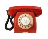 Teléfono del rojo de la vendimia fotografía de archivo libre de regalías