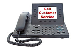 Teléfono del servicio de atención al cliente VoIP Fotos de archivo libres de regalías