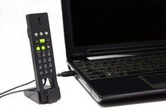 Teléfono del USB para la comunicación del Internet Fotografía de archivo libre de regalías