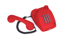 Teléfono del vintage - rojo foto de archivo libre de regalías