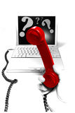 Teléfono directo de la ayuda de la tecnología Imágenes de archivo libres de regalías