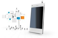 Teléfono elegante Imagen de archivo libre de regalías
