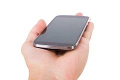 Teléfono elegante con la pantalla en blanco Fotografía de archivo libre de regalías