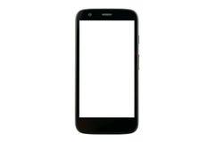 Teléfono elegante con la pantalla en blanco fotografía de archivo