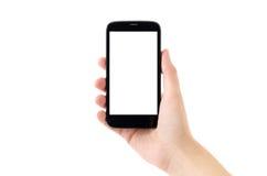 Teléfono elegante de Android en el fondo blanco Fotografía de archivo libre de regalías