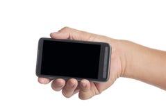 Teléfono elegante de la pantalla en blanco Imagenes de archivo