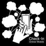 Teléfono elegante de la pantalla táctil Fotos de archivo libres de regalías