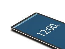 Teléfono elegante de la pantalla táctil en el fondo blanco Fotos de archivo