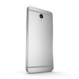 teléfono elegante de la plata de la representación 3D con la pantalla negra ilustración del vector