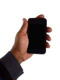 Teléfono elegante a disposición fotografía de archivo libre de regalías