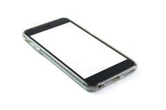 Teléfono elegante en blanco imagen de archivo libre de regalías