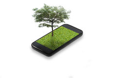 Teléfono elegante móvil imágenes de archivo libres de regalías