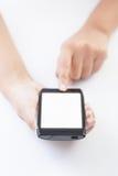 Teléfono elegante móvil a disposición Fotos de archivo libres de regalías