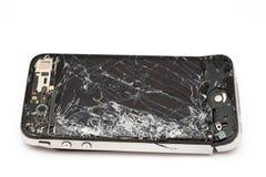 Teléfono elegante roto Imagen de archivo libre de regalías