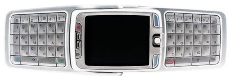Teléfono elegante sobre la visión Imagen de archivo