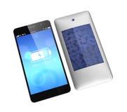 Teléfono elegante y cubierta posterior incorporada del panel solar Imagen de archivo libre de regalías