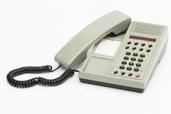 Teléfono en el fondo blanco Fotografía de archivo