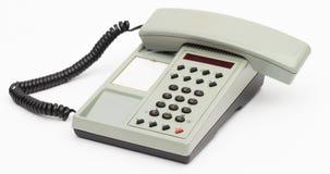 Teléfono en el fondo blanco Imagen de archivo libre de regalías