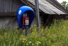Teléfono en el pueblo Fotografía de archivo