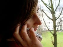 Teléfono en la mano Imágenes de archivo libres de regalías