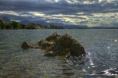 Teléfono Gomilica - visión del ¡de KaÅ del condado de Croacia, Fractura-Dalmacia Imagen de archivo libre de regalías
