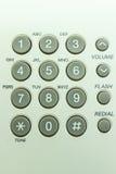 Teléfono gris del telclado numérico Fotografía de archivo libre de regalías