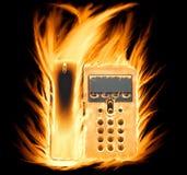 Teléfono llameante fotografía de archivo