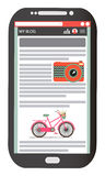 Teléfono móvil aislado Fotos de archivo libres de regalías