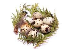Teléfono móvil amarillo Huevos de Pascua en jerarquía fotografía de archivo libre de regalías