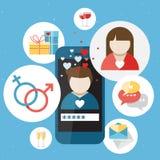 Teléfono móvil azul ilustración del vector