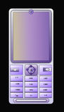 Teléfono móvil azul claro ilustración del vector