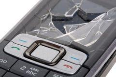 Teléfono móvil causado un crash foto de archivo