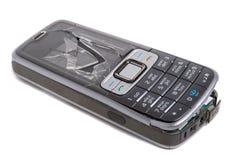 Teléfono móvil causado un crash fotografía de archivo
