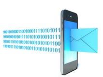 Teléfono móvil con el correo entrante Imágenes de archivo libres de regalías