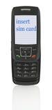 Teléfono móvil con el mensaje Fotografía de archivo libre de regalías