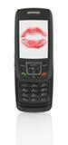 Teléfono móvil con el mensaje del amor Fotos de archivo libres de regalías