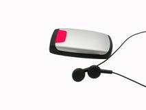 Teléfono móvil con el receptor de cabeza Fotografía de archivo libre de regalías