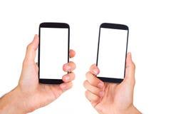 Teléfono móvil con la pantalla en blanco Foto de archivo libre de regalías