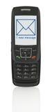 Teléfono móvil con SMS Imagen de archivo