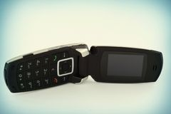 Teléfono móvil con una solapa Imagenes de archivo