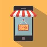 Teléfono móvil Concepto de la tienda en línea Fotos de archivo