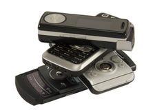 Teléfono móvil cuatro Fotografía de archivo libre de regalías