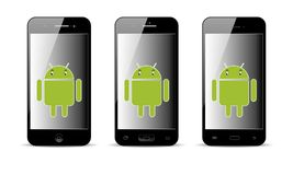 Teléfono móvil de Android foto de archivo