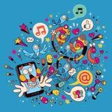 Teléfono móvil de la diversión ilustración del vector