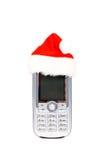 Teléfono móvil de la Navidad Imagen de archivo libre de regalías