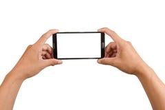 Teléfono móvil de la pantalla en blanco aislado Imagen de archivo libre de regalías