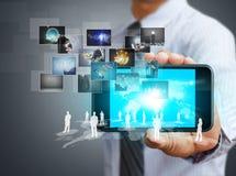 Teléfono móvil de la pantalla táctil Fotos de archivo libres de regalías