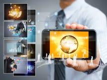 Teléfono móvil de la pantalla táctil Imágenes de archivo libres de regalías
